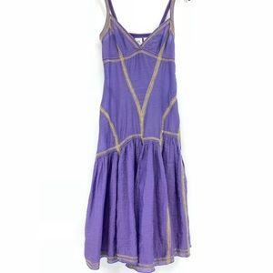 Armani Exchange Purple Midi Boho Dress